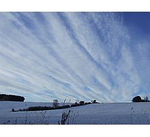 Winter sky. Photographic Print