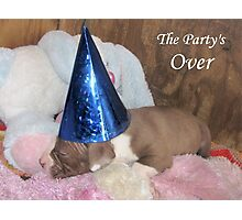 The Party's Over Photographic Print