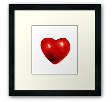 Love is rough around the edges  Framed Print