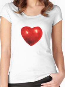 Love is rough around the edges  Women's Fitted Scoop T-Shirt