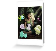 Korra with the Spirits Greeting Card