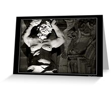 Stonework & Muscle Greeting Card