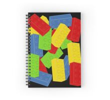 Colored Bricks Spiral Notebook