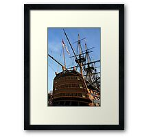 """HMS Victory - On """"Tall Ships"""" List for challenge. Framed Print"""