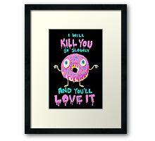 Killer Donut Framed Print