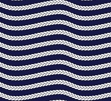 Nautical Braid in Navy and White by daisy-beatrice