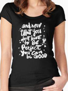 Be Good : Dark Women's Fitted Scoop T-Shirt
