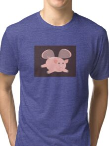 EVENING OF THE GLASSWINGED PIG Tri-blend T-Shirt