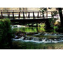 Bridge in Croatia Plitvice Photographic Print