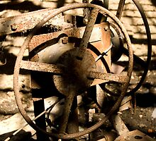 Very Old Rusted Wheel by Adam Kennedy