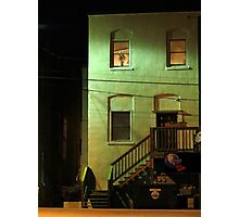 Night Alley And Building Photographic Print
