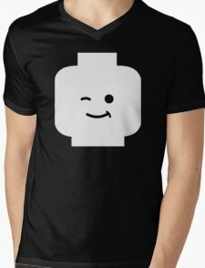 Minifig Winking Head Mens V-Neck T-Shirt