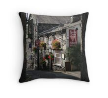 Alleyway No.1 - Hawkshead, Lake District Throw Pillow