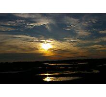 Sunset Marsh Photographic Print