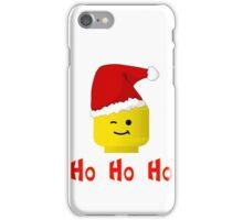 Santa Ho Ho Ho Minifig by Customize My Minifig iPhone Case/Skin