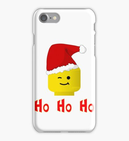 Santa Ho Ho Ho Minifig by Customize My Minifig iPhone Case/Skin