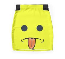 Rude Minifig Face Sticking Tongue Out  Mini Skirt