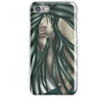 Flowing green haired girl iPhone Case/Skin