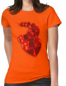 Chain of Hearts Womens Fitted T-Shirt