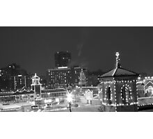 Country Club Plaza at Night Photographic Print
