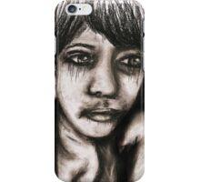 Charcoal portrait #2 iPhone Case/Skin