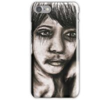 Charcoal portrait #2 iPhone Case/Skin