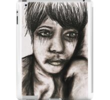 Charcoal portrait #2 iPad Case/Skin