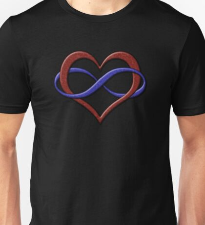 Polyamory Pride Infinity Heart Unisex T-Shirt