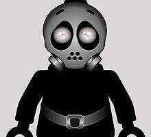 Zombie Apocalypse Hazmat Gas Mask Minifig by Customize My Minifig