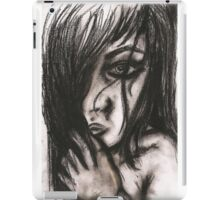 Charcoal portrait #3 iPad Case/Skin