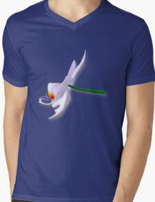 Orchid side Mens V-Neck T-Shirt