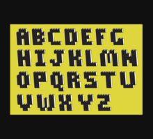 Brick Font Alphabet Kids Clothes