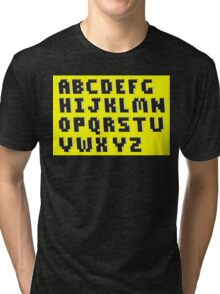 Brick Font Alphabet Tri-blend T-Shirt