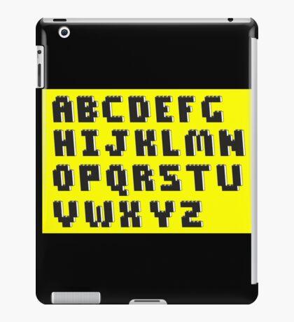Brick Font Alphabet iPad Case/Skin