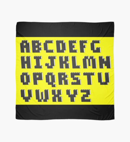Brick Font Alphabet Scarf