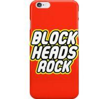 BLOCK HEADS ROCK iPhone Case/Skin