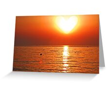 Heart Sun Greeting Card