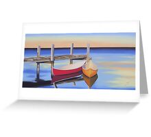 """""""Canoes"""" Greeting Card"""