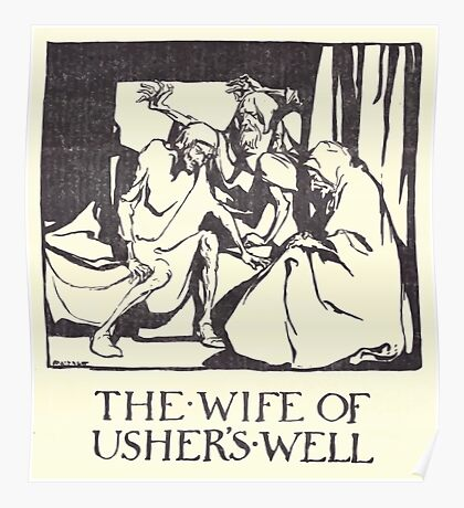 Some British Ballads by Sangorski and Sutcliffe art Arthur Rackham 1919 0254 The Wife of Usher's Well Poster