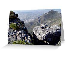 Rugged Terrain atop Table Mountain Greeting Card