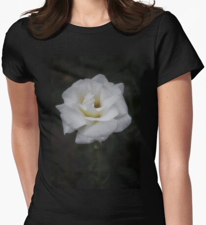 A White Rose #2 Womens Fitted T-Shirt
