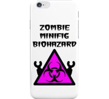 ZOMBIE MINIFIG BIOHAZARD iPhone Case/Skin