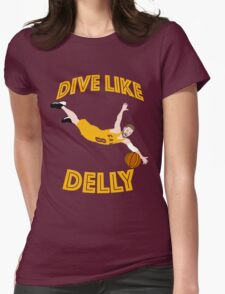 Dive Like Delly Womens Fitted T-Shirt