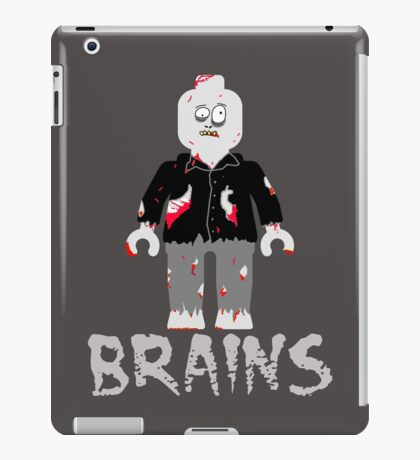 BRAINS ZOMBIE MINIFIG iPad Case/Skin