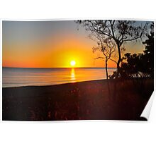 Sunrise over the Coral Sea Poster