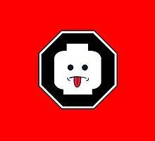 RUDE MINIFIG HEAD ROADSIGN by Customize My Minifig
