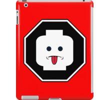 RUDE MINIFIG HEAD ROADSIGN iPad Case/Skin