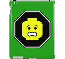 SCARED MINIFIG FACE ROADSIGN iPad Case/Skin