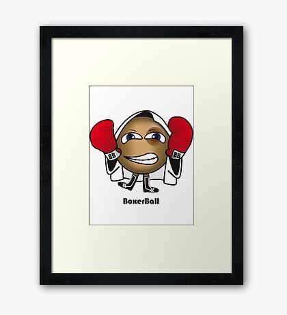 Boxer Ball Framed Print