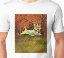 jack russell in autumn Unisex T-Shirt